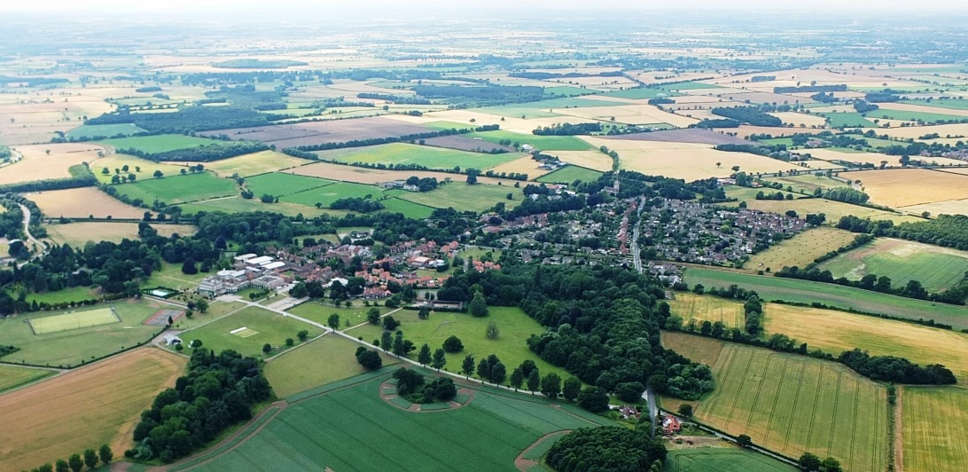 Aerial photo of Escrick